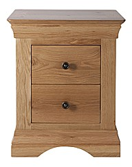 Solid Oak & Oak Veneer Bedside Table