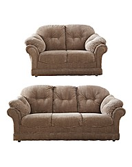 Suffolk Three Seater & Two Seater Sofa