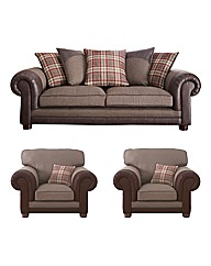 Hamilton Three Seater Sofa & 2 Chairs
