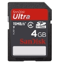 Sandisk SDHC Memory Card Ultra 4GB