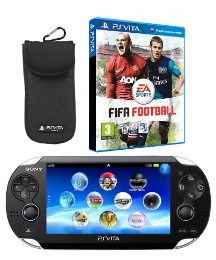 PS Vita 3G + FIFA Football +Travel Pouch