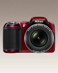 Nikon 16MP 26x Zoom Digital Camera Red