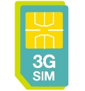 3 Sim Card - 1 Month Rolling Contract