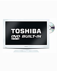 Toshiba 32in LCD TV/DVD Combi - White
