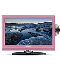 Cello 19in LED/DVD Pink Combi
