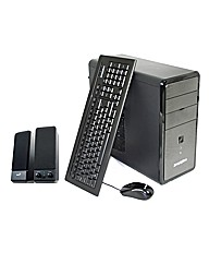 Zoostorm Wi-Fi Desktop PC With Speakers