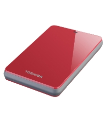 Toshiba 500GB External Storage - Red