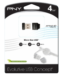 PNY Micro Size USB Flash Drive - 4GB