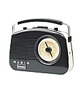 Steepletone Retro Radio - Black