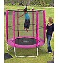 Plum 6 Foot Pink Trampoline & Enclosure