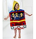 Fireman Sam Towel & Poncho Set