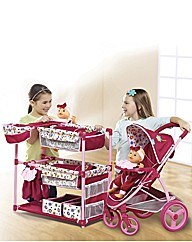 Malibu Dolls Pram and Changing Table
