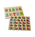 Numbers & Alphabet 2 Pack Wooden Puzzles
