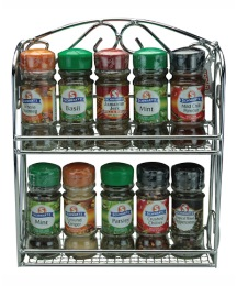 Chrome Filled Spice Rack