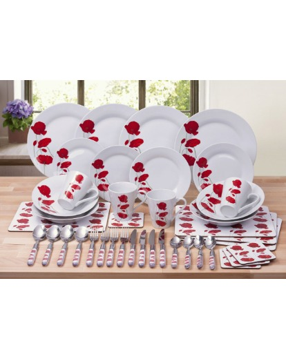 Fascinating Red Poppy Dinnerware Sets Pictures - Best Image Engine ...