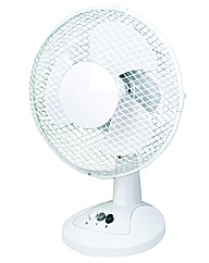 Pifco 23cm (9inch) Plastic Table Fan