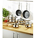 JDW 7 Piece Stainless Steel Pan Set