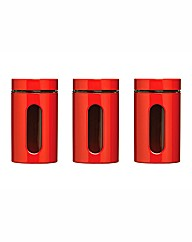 Set of 3 Window Cannisters