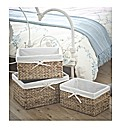 Water Hyacinth Set 3 Open Baskets