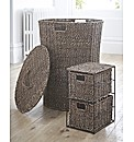 Seagrass Hamper & 2 Drawer Unit set