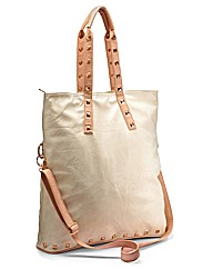 Folding Bag with Stud Detail