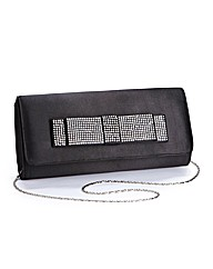 Diamante Bow Detail Clutch Bag