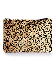 Claire Richards Leather Print Clutch Bag