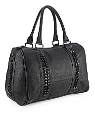 Stud detail pu doctors bag