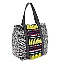 Beaded Ethnic Print Shopper