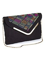 Neon Beaded Clutch Bag