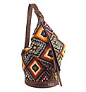 Aztec Fold Over Backpack Bag
