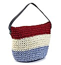 Stripe Straw Bag