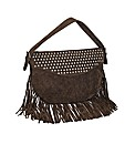 Stud Detail Fringe Bag