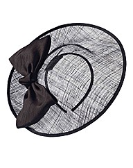 Oversized Bow Disc Fascinator