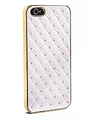 IPhone 5 Champagne Quilt Bling Case