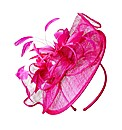 Hot Pink Feather Disc Facinator