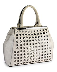 Eyelet Embellished Bag