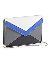 Colour Block Clutch Box Bag