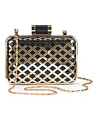 Gold Box Clutch Bag