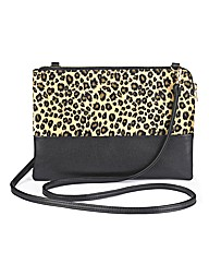 Faux Fur Animal Print Cross Body Bag