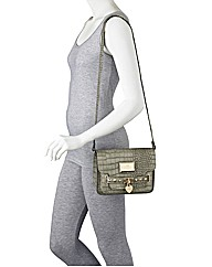 Lipsy Mock Croc Cross Body Grab Bag