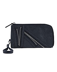 Religion Fragment Zip Detailed Purse