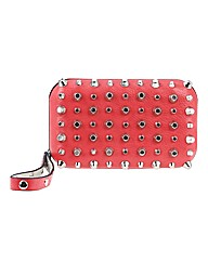 Religion Emerge Studded Hard Case Clutch