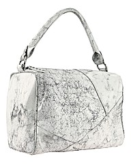 Religion Cracked Leather Shoulder Bag