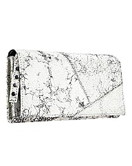 Religion Cracked Leather Purse