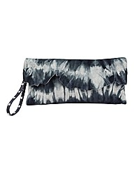 Religion Harmony Tie Dye Leather Clutch