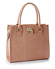 Croc Effect Structured Bag