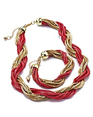 Rope Necklace and Bracelet Set