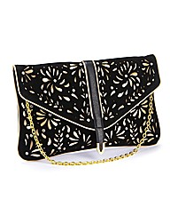 Cut Out Detail Clutch Bag