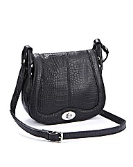 Aligator Leather Overbody Handbag